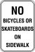 12X18 NO BICYCLES OR SKATEBOARDS ON....