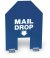 12X16 MAIL DROP SIGN- BLUE W/WHT LTRS