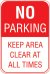 12X18 NO PARKING KEEP AREA CLEAR AT ....