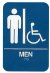 ADA Compliant Signs, Men/Wheelchair Acc