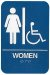 ADA Compliant Signs, Women/Wheelchair Ac