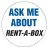 """Ask me about Rent-A-Box"" Pins (100/box)"
