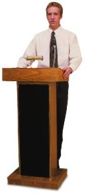 Non-Adjustable Mobile Lectern