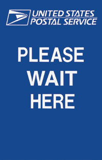 Please Wait Here Sign w/ Logo