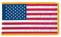 3' x 5' Indoor Nylon U.S. Flag with Fringe