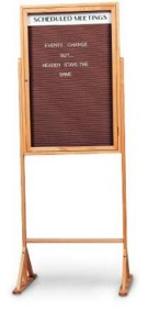 30X36 CORKBOARD-DOUBLE PEDESTAL BOARDS