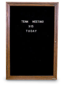 "18"" x 24"" Wood Enclosed Letterboard"