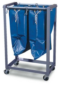 "2 Bag 19"" Mail Bag Rack"