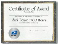 Sick Leave Certificate - 1,500 Hours