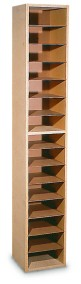 15 Compartment Vertical Hold Mail Bin