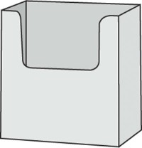 "POCKET FOR FORM UP TO 6¼""W CLEAR/BASE"