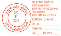 N17-961 PAY TO THE ORDER OF / DATER