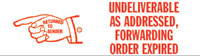 Undeliverable, Fwd Order Expired Pre-Inked Stamp