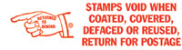 Stamps Void When Coated, Covered Pre-Inked Stamp