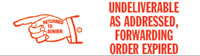 Undeliverable, Fwd Order Expired Rubber Stamp