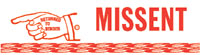 Missent Rubber Stamp