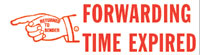 Forwarding Time Expired Rubber Stamp