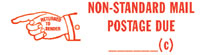Non-Standard Mail Rubber Stamp