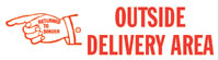 Outside Delivery Area Rubber Stamp