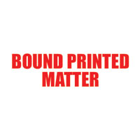 """Bound Printed Matter"" Pre-Inked Small Counter Stamp"