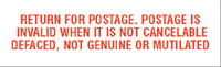 N10-313 RTN FOR POSTAGE POST IS INVALID