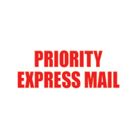 """Priority Express Mail"" Pre-Inked Counter Stamp"