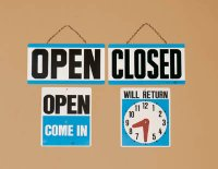Large Open/Closed Reversible Sign