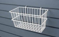 SMALL RECTANGULAR METAL BASKET -SLATWALL