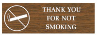 WOOD GRAIN INTN'L SYMBOL SIGN-THANK YOU