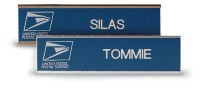 "10"" x 2"" Wall Nameplate in Gold Aluminum Holder"