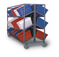 6 Shelf Piggy-Back Tote Rack - 30 Tub Capacity