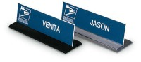 "8"" x 2"" Desk Nameplate in Clear Acrylic Holder"