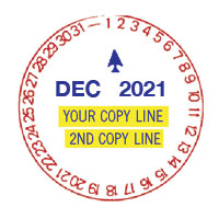 N77-132 TIME STAMP WITH 2 LINES