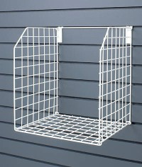 FOLDING METAL BASKET - SLATWALL