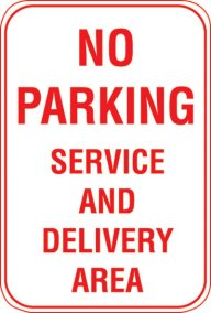 12X18 NO PARKING SERVICE AND DELIVERY