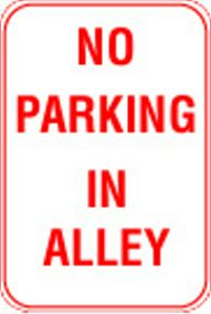 12X18 NO PARKING IN ALLEY