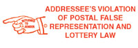 N18-000 PROCESSING STAMP-RTS ADDRESSEE'S