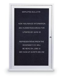 "18"" x 24"" Indoor Aluminum Enclosed Letterboard"