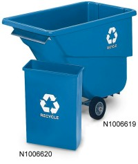 Wall Hugger Recycling Container