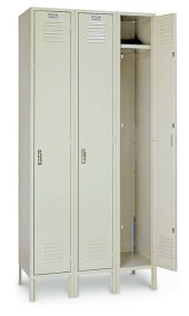 "12""W x 15""D x 60""H Single Tier 3 Wide Lockers"