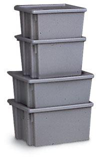 "500 lb. Capacity Tote Container - 13"" high"