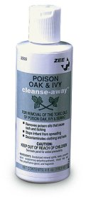 Poison Oak & Ivy cleanse-away