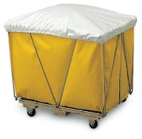 16 Bushel White Nylon Hamper Cover-Up