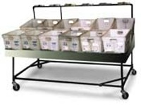 Parcel Tub Sortation Table + Casters