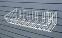 DOUBLE SLOPING METAL BASKET -SLATWALL