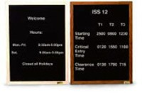18X24 CHANGEABLE LETTER DISPATCH BOARD