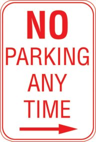 12X18 NO PARKING ANY TIME---->