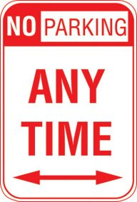 12X18 NO PARKING ANY TIME <--->
