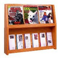 4 Magazines/8 Brochures Oak Rack
