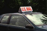 """U.S. Mail"" Car Top Sign"